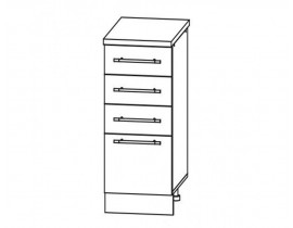 ГРАНД ШНЯ-300 шкаф нижний с 4 ящиками
