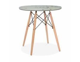 Стол обеденный Eames DSW Круги (Кремовый)