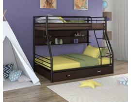 Двухъярусная кровать Гранада - 2 ПЯ Черный