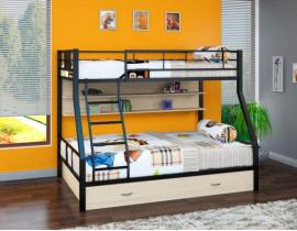 Двухъярусная кровать Гранада - 1 ПЯ Черный