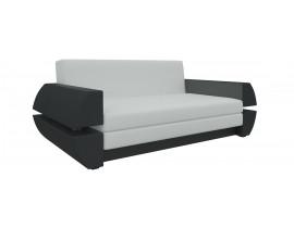 Диван Атлант Мини Т - Эко-кожа Белый+Черный