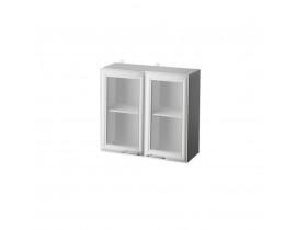 Н09-Шкаф настенный 2х дверный (стекло) (800) НАТАЛЬЯ