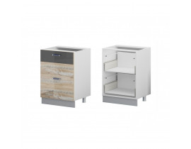 Стол кухонный (600) с 2 выдвижными ящиками (б/ст) ЛОФТ