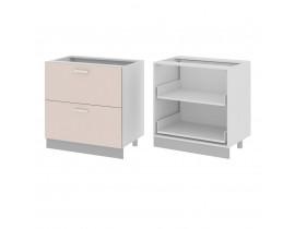 Стол кухонный (800) с 2 выдвижными ящиками (б/ст) ГЛОРИЯ