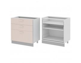 Стол кухонный (800) с 3 выдвижными ящиками (б/ст) ГЛОРИЯ
