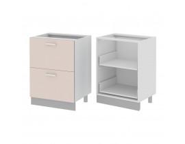 Стол кухонный (600) с 2 выдвижными ящиками (б/ст) ГЛОРИЯ