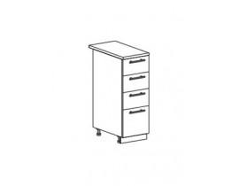 Шкаф нижний с 4 ящиками ШН4Я 300
