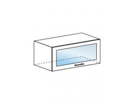 Шкаф верхний горизонтальный со стеклом ШВГС 800