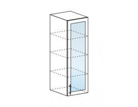 Шкаф верхний пенал со стеклом ШВПС 400