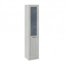 Шкаф для белья с 1 глухой дверью левый Кантри замша синяя/винтерберг