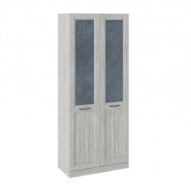 Шкаф для одежды с 2 глухими дверями Кантри замша синяя/винтерберг