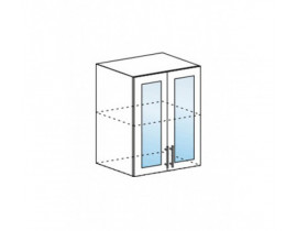 Модульная кухня Лофт-Рио, шкаф со стеклом ШВС-600