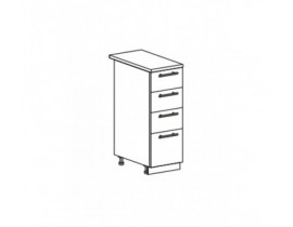 Модульная кухня Лофт-Рио, шкаф нижний с 4 ящиками ШН4Я-300