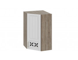 Шкаф верхний угловой c углом 45 с декором ВУ45-96-(40)-1ДРД(R)