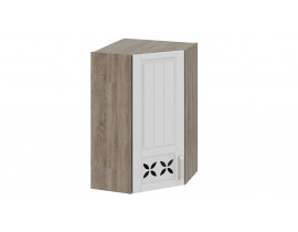 Шкаф верхний угловой c углом 45 с декором ВУ45-96-(40)-1ДРД(L)
