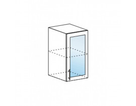 Шкаф верхний со стеклом ШВС 400 Капля-Волна