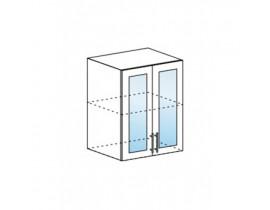 Шкаф верхний со стеклом ШВС 600 Капля-Волна