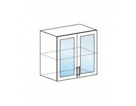 Шкаф верхний со стеклом ШВС 800 Капля-Волна