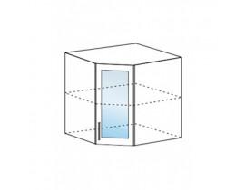Шкаф верхний угловой со стеклом ШВУС 600х600 Капля-Волна
