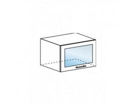 Валерия шкаф горизонтальный со стеклом ШВГС-600