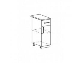 Шкаф нижний с 1 ящиком ШН1Я 300 Капля-Волна
