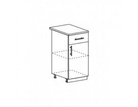 Шкаф нижний с 1 ящиком ШН1Я 400 Капля-Волна