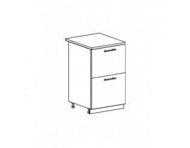 Шкаф нижний с 2 ящиками ШН2Я 500 Капля-Волна