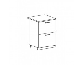 Шкаф нижний с 2 ящиками ШН2Я 600 Капля-Волна