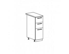 Шкаф нижний с 3 ящиками ШН3Я 300 Капля-Волна