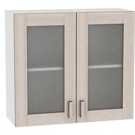 Шкаф верхний с 2-мя остекленными дверцами 720 Ш800 Лофт Виват