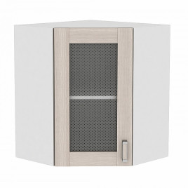 Шкаф верхний угловой остекленный 720 Лофт Виват