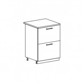 ОРИО ШНК2-600 шкаф нижний с 2 ящиками