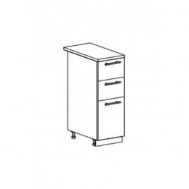 ОРИО ШНЯ-300 шкаф нижний с 3 ящиками