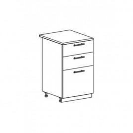 ОРИО ШНЯ-500 шкаф нижний с 3 ящиками