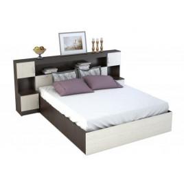 КР-552 Кровать 1,6м с закроватным модулем Бася
