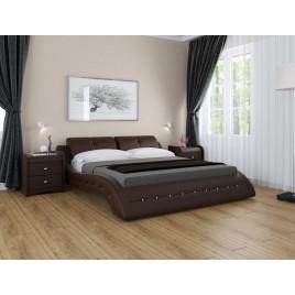 Кровать Аврора из экокожи подъемная