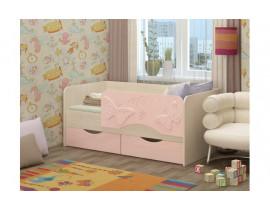 Односпальная детская кровать Бабочки 1,4 м