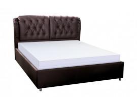 Кровать Монако экокожа коричневая