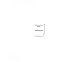Шкаф нижний комод (2 ящика) ШНК2 400 Монако