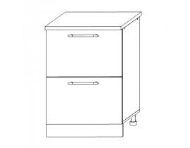 Шкаф нижний комод (2 ящика) 600 Вита