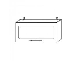 Шкаф верхний горизонтальный со стеклом 800 Вита