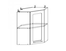 Шкаф верхний угловой стекло 550х550 Вита