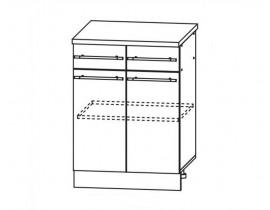 ЛОФТ ДСВ ШН2Я-600 шкаф нижний с 2 ящиками