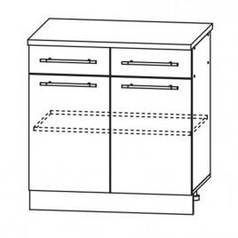 ЛОФТ ДСВ ШН2Я-800 шкаф нижний с 2 ящиками