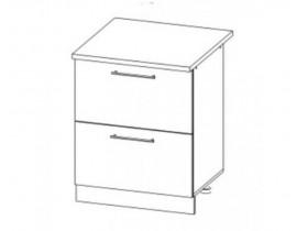 ЛОФТ ДСВ ШНК2-600 шкаф нижний комод (2 ящика)