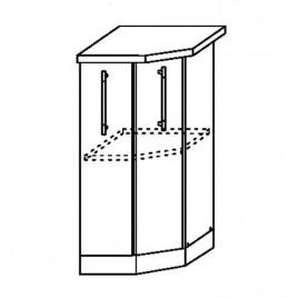 ЛОФТ ДСВ ШНТУ-400 шкаф нижний торцевой угловой
