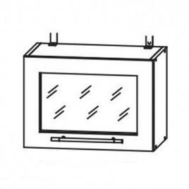 Лофт ДСВ ШВГС-500 шкаф горизонтальный со стеклом