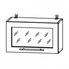 Лофт ДСВ ШВГС-600 шкаф горизонтальный со стеклом