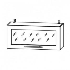 Лофт ДСВ ШВГС-800 шкаф горизонтальный со стеклом