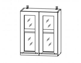 ЛОФТ ДСВ ШВС-600 шкаф навесной со стеклом